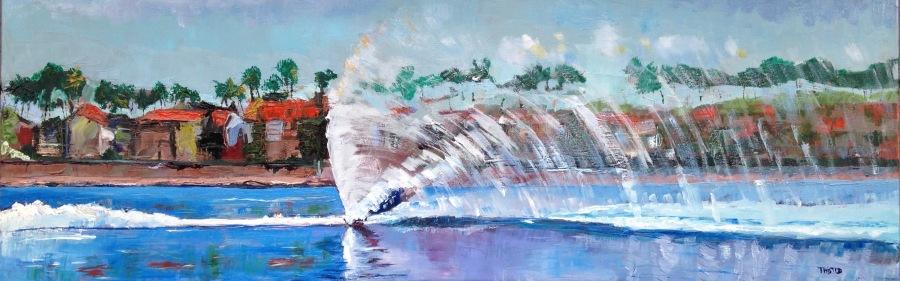 blue waterski